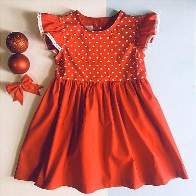 Vestido Clara Vermelho de Bolinhas