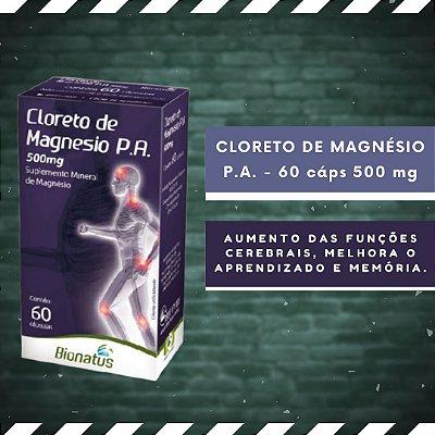 CLORETO DE MAGNÉSIO P.A. - 60 Cáps 500 mg