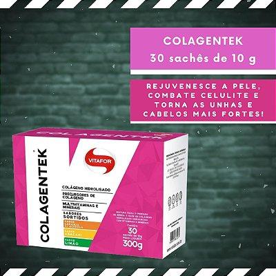 COLAGENTEK - 30 Sachês de 10 g - Sabores Sortidos