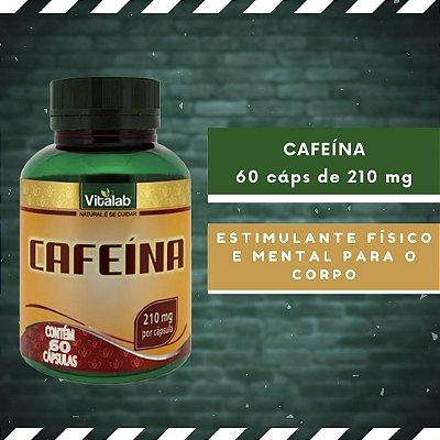 CAFEÍNA - 60 Cáps 210 mg