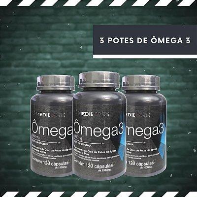 ÔMEGA 3 - 3 Potes, 120 Cáps 1000 mg