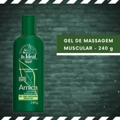 GEL DE MASSAGEM MUSCULAR - ARNICA - 240 g