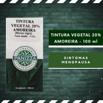 TINTURA VEGETAL 20% AMOREIRA - 100 ml