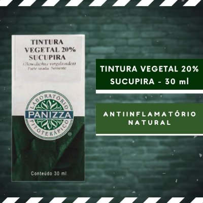 TINTURA VEGETAL 20% SUCUPIRA - 30 ml