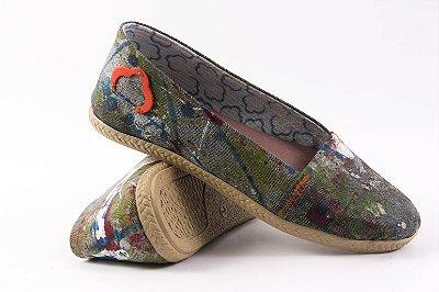 Alpargatas Jeans Reciclado Arte Tamanho 34