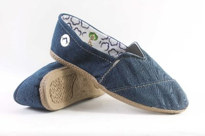 Alpargata Ecológica Ecomodas Jeans Escuro