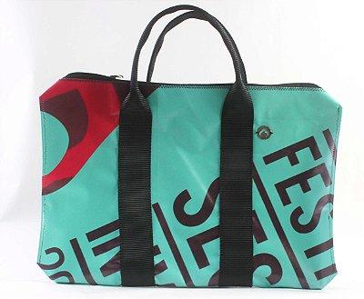Bag para Notbook/ pasta Ecológica feita de banner reciclado EcoModas
