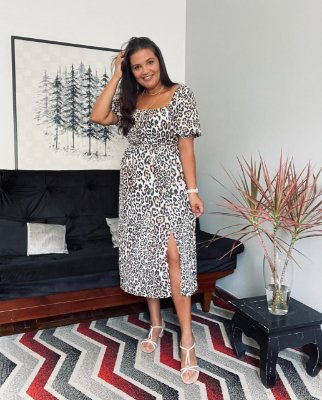 Vestido SHEILA estampa Animal Print