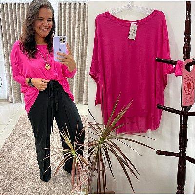 Bata Júlia tamanho único veste do P ao EXG ( Cor Pink )