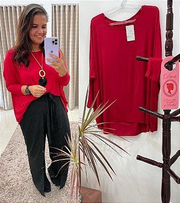 Bata Júlia  tamanhos único veste do P ao EXG ( cor vermelha )