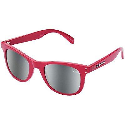 Óculos de Sol Espelhado Jackdaw 26 Vermelho Cereja Brilho com Lentes Cinza