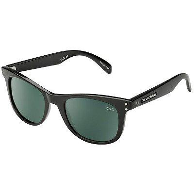 Óculos de Sol Jackdaw 14 Preto Brilho com Lentes Cinza Esverdeado G15