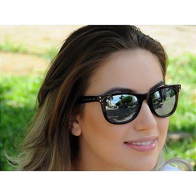 Óculos de Sol Jackdaw 25 Marrom Translúcido Brilho com Lentes Cinza Semi-Espelhado