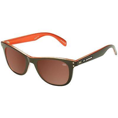 Óculos de Sol Polarizado Jackdaw 36 Marrom e Laranja Brilho com Lentes Marrom