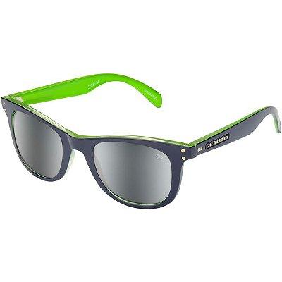 Óculos de Sol Espelhado Jackdaw 45 Azul Marinho e Verde Brilho com Lentes Cinza