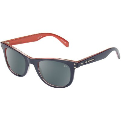 Óculos de Sol Jackdaw 49 Azul Marinho e Vermelho Brilho com Lentes Cinza