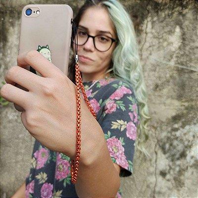 Phone Strap Veneziana Laranja