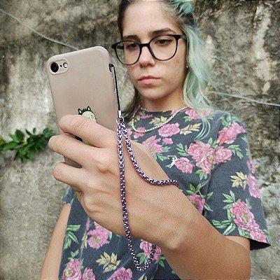 Phone Strap Veneziana Lilás