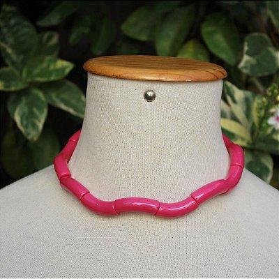 Colar tubos pink