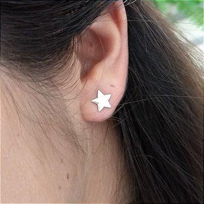 Brinco prata 925 estrela