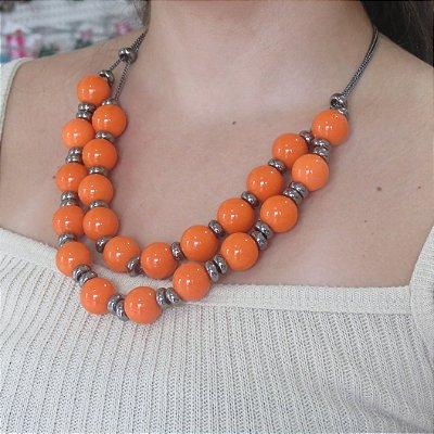 Maxi colar laranja