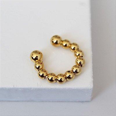 Piercing Fake bolinha dourada (P)