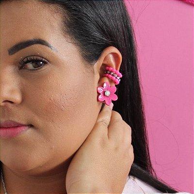 Piercing Fake miçanga rosa