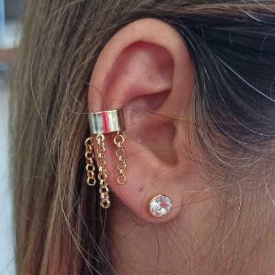 Piercing Fake correntinhas redonda
