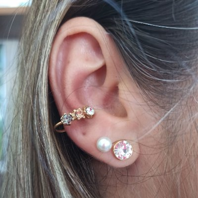 Piercing fake strass