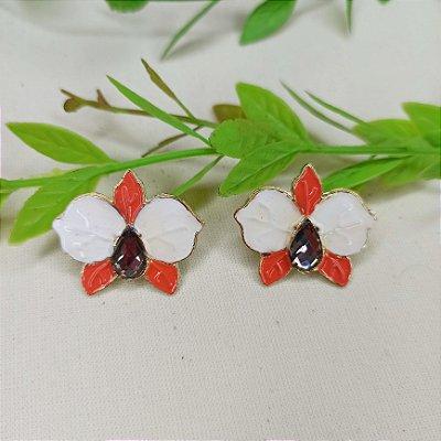 Brinco orquídea colorida