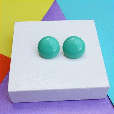 Brinco botão verde