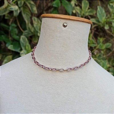 Gargantilha colorida mini cadeado