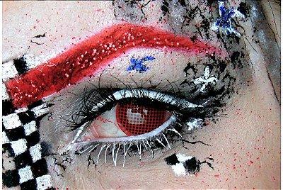 Crazy Lens - Mesh Vermelha
