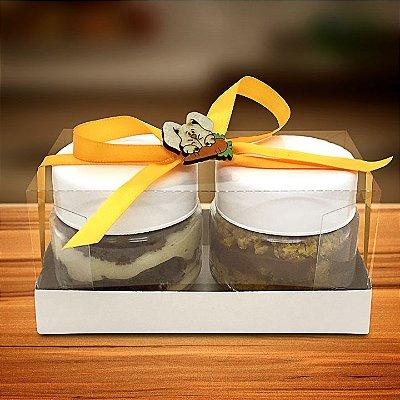 Kit com 2 bolos de pote (Bolo de Cenoura brigadeiro e Bolo Bem-casado) - 170g