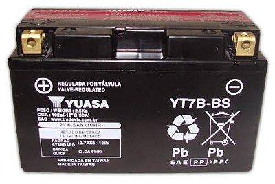 Bateria Yuasa YT7B-BS |12V - 6,5Ah| TTR250, V / YP250 Majestic / Daytona 675 / KLX400R, SR