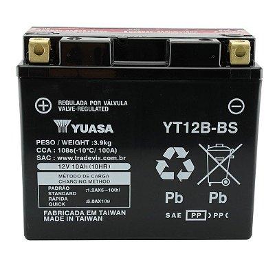 Bateria Yuasa YT12B-BS |12V - 10Ah| TDM850N TDM900 YZF-R1 600M Dark750 ZX1000-C Ninja (ZX-10R)