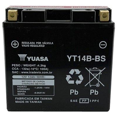Bateria Yuasa YT14B-BS |12V - 12Ah| FZS 1000, S, T, FZ1, BT 1100, XVS 1100A Drag Star, FJR 1300 A, AS, SC, XV 1700, XV19SV