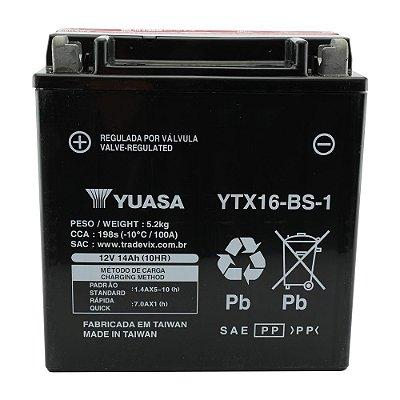 Bateria Yuasa YTX16-BS-1 |12V - 14Ah| VS 1400 GLF, GLP, VL 1500 Intruder