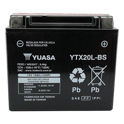 Bateria Yuasa YTX20L-BS |12V - 18Ah| Yamaha XVZ1300 Harley Davidson FLST/FXD Kawasaki Jet Ski