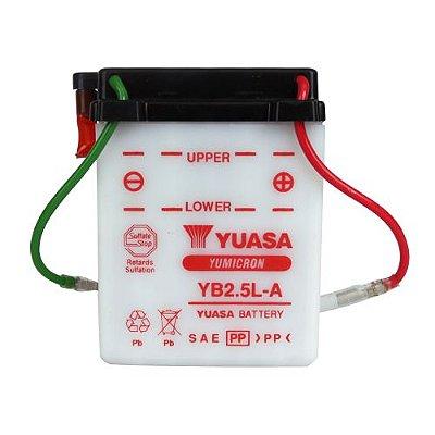 Bateria Yuasa YB2,5L-A |12V - 2,5Ah| CG125 Turuna Today (Toda linha 125 até 1999)