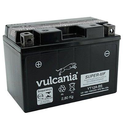 Bateria Vulcania YT12A-BS |12V - 10Ah| GSX1300R Hayabusa GS1299S SA Bandit GSXR750 GSXR1000 SV650S