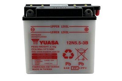 Bateria Yuasa 12N5.5-3B |12V - 5,5Ah| YBR125, RD/Z125, RD/Z135, RD350, NEO115