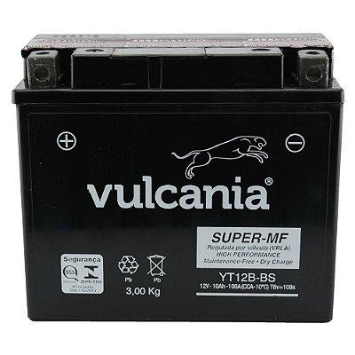 Bateria Vulcania YT12B-BS |12V - 10Ah| Yamaha TDM850N TDM900 YZF-R1- Ducati 600M Dark, 750 - Kawasaki ZX1000-C Ninja (ZX-10R)