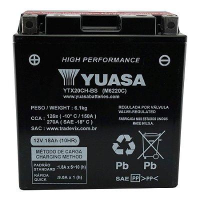Bateria Yuasa YTX20CH-BS |12V - 18Ah| Kawasaki ZR1100 / VN1500-D, E, N Vulcan Classic / VN1500-P Vulcan Mean Streak / 1500 VN1500-G, J, L, R Vulcan Nomad, Drifter