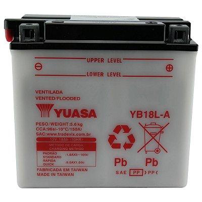 Bateria Yuasa YB18L-A |12V - 18Ah| Honda CBX1000, VF1100S, Kawasaki ZX11 Ninja, Z/ZG 1000 BMW 80GS/ST