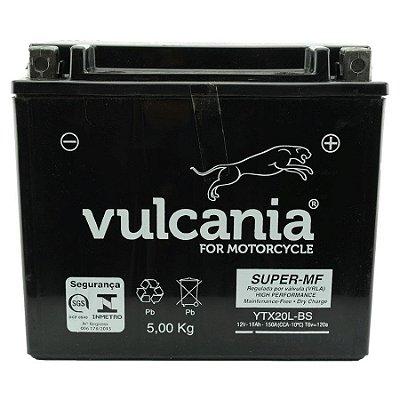 Bateria Vulcania YTX20L-BS |12V - 18Ah| Yamaha XVZ1300, Harley Davidson FLST/FXD, Kawasaki Jet Ski