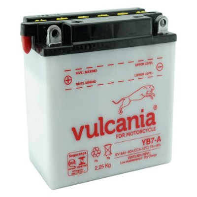 Bateria Vulcania YB7-A |12V - 8Ah| Suzuki 125 YES, Intruder 125 ED/Cargo, Katana 125