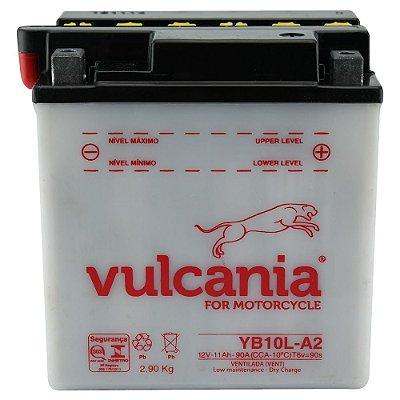 Bateria Vulcania YB10L-A2 |12V - 11Ah| Intruder 250, GS500, XV250, Z250A, C, J