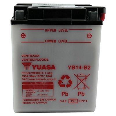 Bateria Yuasa YB14-B2 |12V - 14Ah| VT700C Shadow, CB750, XL600V