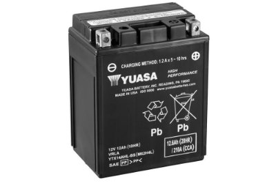 Bateria Yuasa YTX14AHL-BS |12V - 12Ah| CBR1000F Hurricane, CB1100F Super Sport, ZX750-H Ninja ZX-7